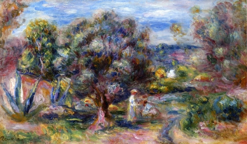 Renoir artworks of Southern France, Cagnes sur Mer