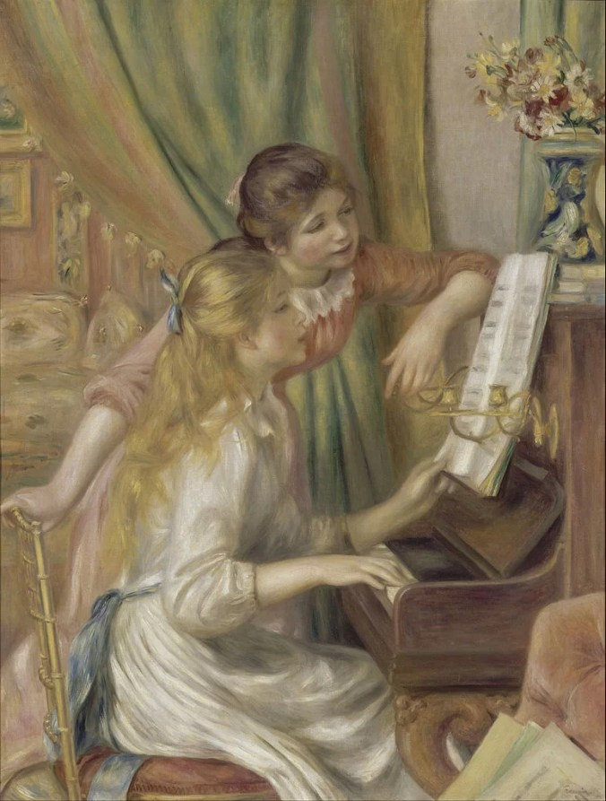 Two Young Girls at the Piano - The Version hanging at the Musee D'Orsay