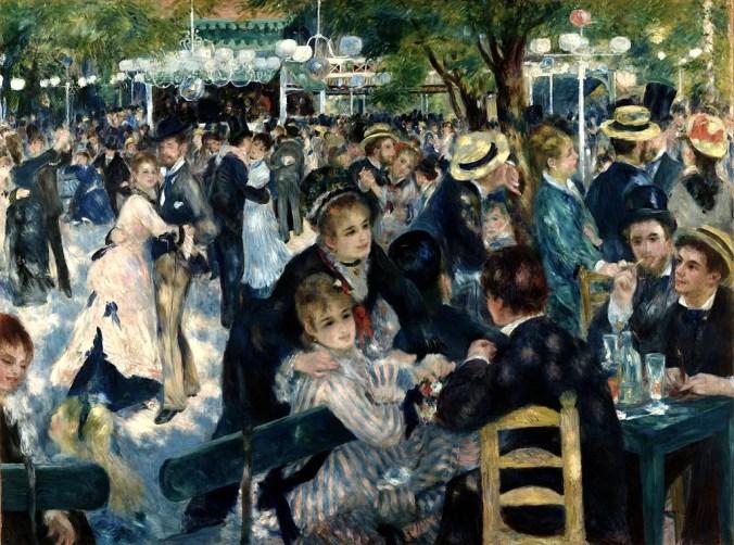 Bal du moulin de la Galette - Famous impressionist painting by Renoir