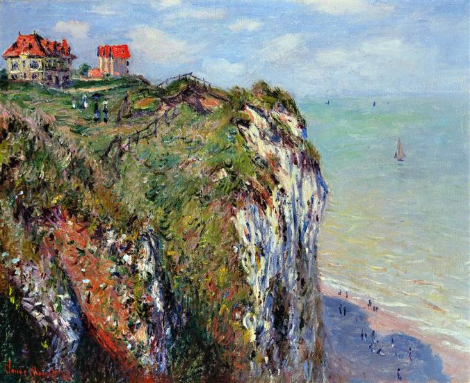 Cliffs at Dieppe -  Claude Monet Painting