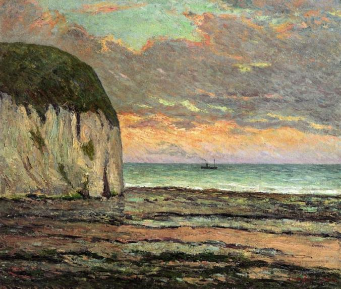 The Normandy Coast - Maxime Maufra Painting