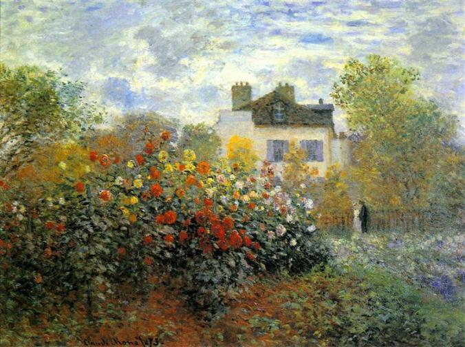 Claude Monet artwork -His house and garden in Argenteuil