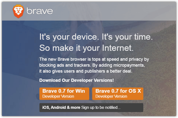 Brave browser site download