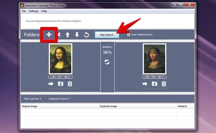 работает так, поиск дубликатов фото в интернете нажатия фотографии появляется