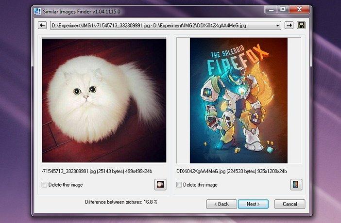Странные результаты Similar Images Finder