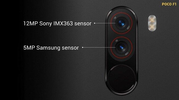 Сенсоры камер в Xiaomi F1