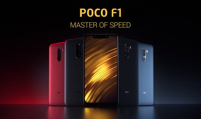 PocoPhone F1 все цвета корпуса