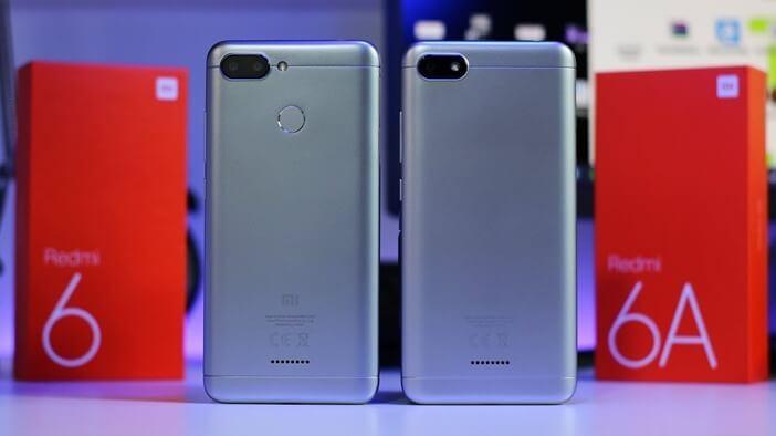 Недорогие модели Xiaomi Redmi 6 и 6A