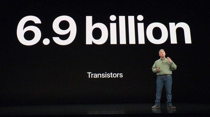 Число транзисторов в Apple А12