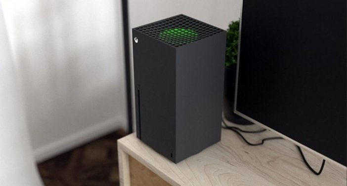 Xbox Series X подключённая к телевизору