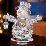 Illuminated Crystal Snowman
