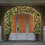 Lighted Double Door Archway