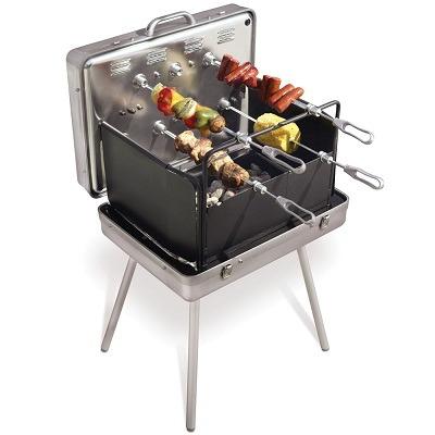 Brazilian Barbecue Set In Aluminum Briefcase