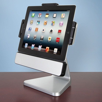 The Rotating iPad Speaker Stand