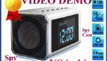 TOP Secret Spy Camera Mini Clock Radio Hidden DVR