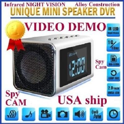 TOP Secret Spy Camera Mini Clock Radio Hidden DVR