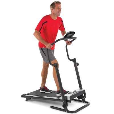 The Walker's Foldaway Treadmill - A motorless treadmill where resistance is created by magnetic force, eliminating the need for AC power