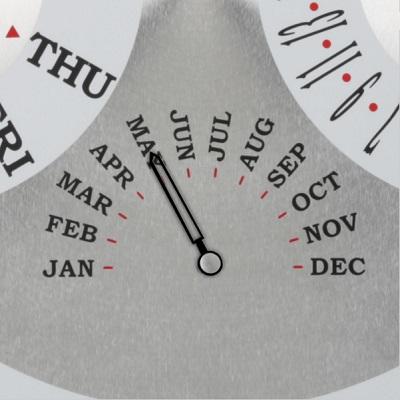 The Date Displaying Atomic Wall Clock 1