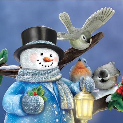 The Thomas Kinkade Winter Glow Snowman 1