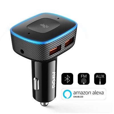 The Automotive Alexa - A car charger that powers your devices and connects to the Internet for hands-free assistance while driving