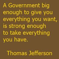 thomas jefferson quote | government rule