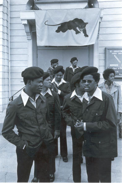 Panthers on Guard out St. Augustines Church