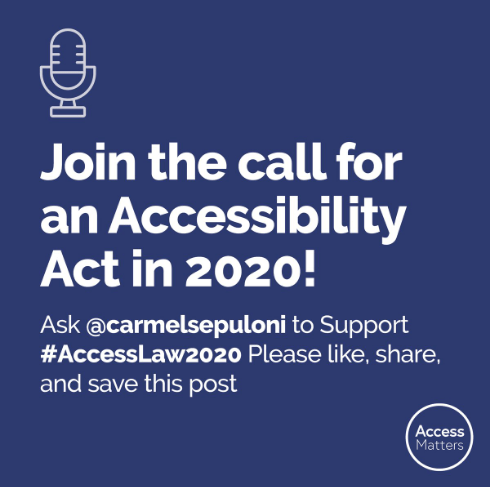 Join the call for an accessibility Act in 2020!