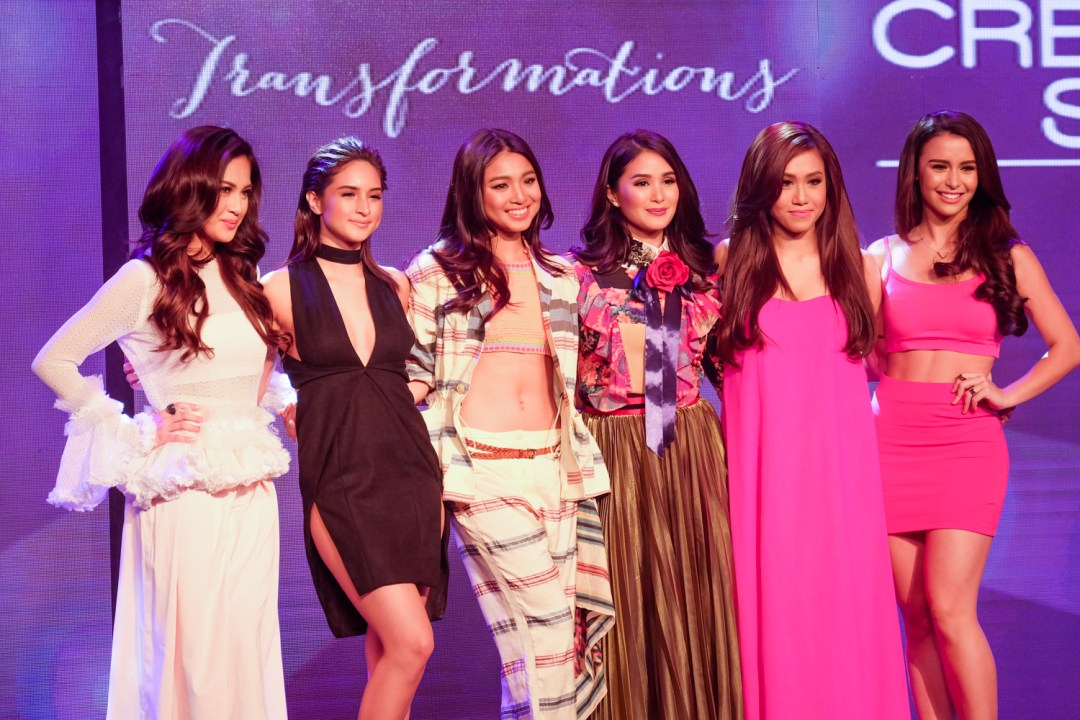 Coleen Garcia, Nadine Lustre, Heart Evangelista, Rachel Ann Go, and Yasi Presman revealed as the cover girls at the Cream Silk Transformations event.