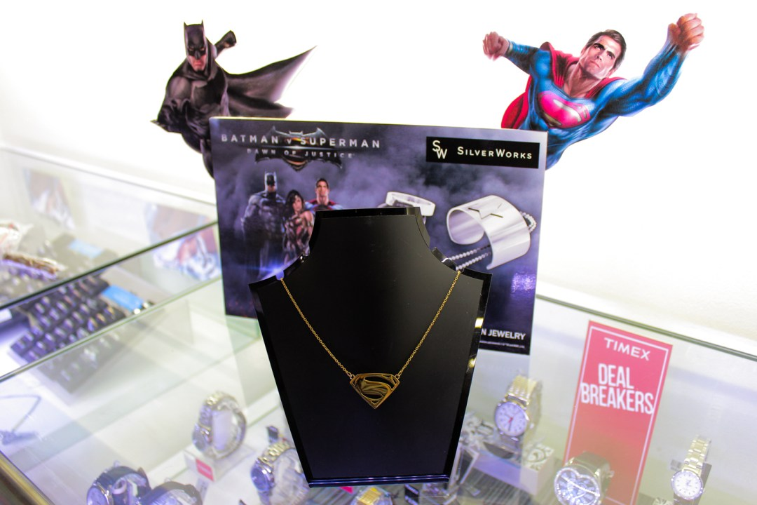 The Superman gold necklace