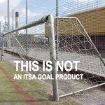 aluminium goals, steel and aluminium mixed on freestanding goalposts
