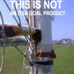Aluminum Goal posts mixed with with steel net supports which is not a good idea