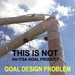 Goalpost net support becoming detached