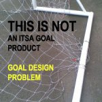 Goal post nets can fray when clipped to ground frame