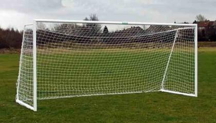 Folding Aluminium Goalpost -16'x7′ Lightweight, Easy to Use & Store