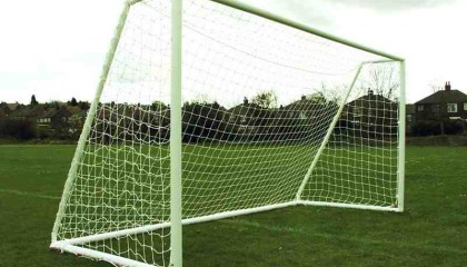 Mini Soccer Goal 12′ x 6′ – Multi-Surface – Two Section Crossbar – Fits Into 2m Goal Bag