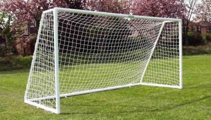 Mini Soccer Goal Post uPVC 12'x6′ – single section crossbar