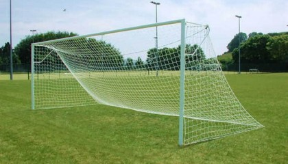 Steel Football Goalposts – Nut & Bolt Steel 24'x8′ – 76mm Tube
