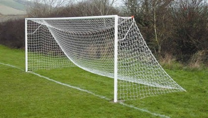 Steel Football Goals – Basic Nut & Bolt 21'x7′ 60mm tube