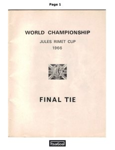 World Cup 1966 Football Programme