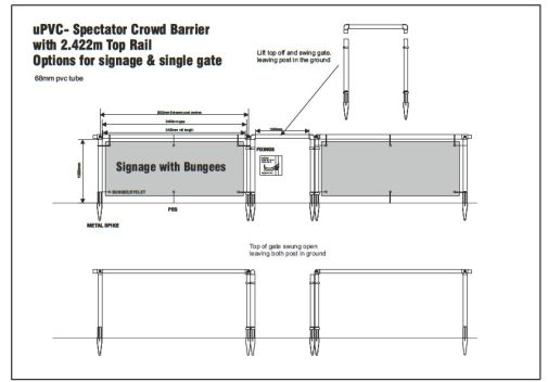 CROWD BARRIERS FOR FOOTBALL