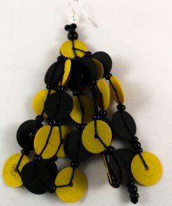 oorbel geel recycled Vinyl duurzaam eco fairtrade 122335475614