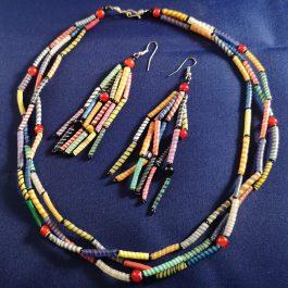 oorbel multicolor recycled plastic duurzaam eco fairtrade teenslippers flipflop 122334475212 3