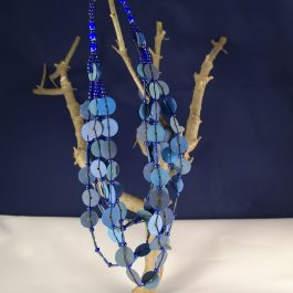 Ketting blauw recycled Vinyl duurzaam eco fairtrade 122335495420