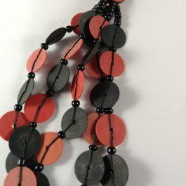 Ketting rood recycled Vinyl duurzaam eco fairtrade 1223354952213