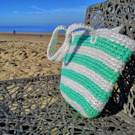Strandtas groen plastic recycled eco fairtrade 112134465111
