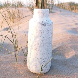 Vaas zilver 24cm Plasticbottle recycled eco fairtrade 132434515803 8