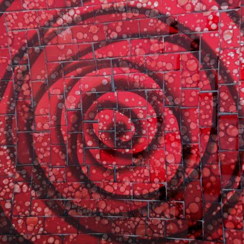 schaal rood details