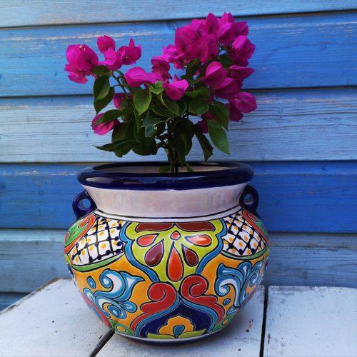 ronde bloempot fairtrade mexico
