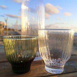 groen en wit loodvrij kristal glas