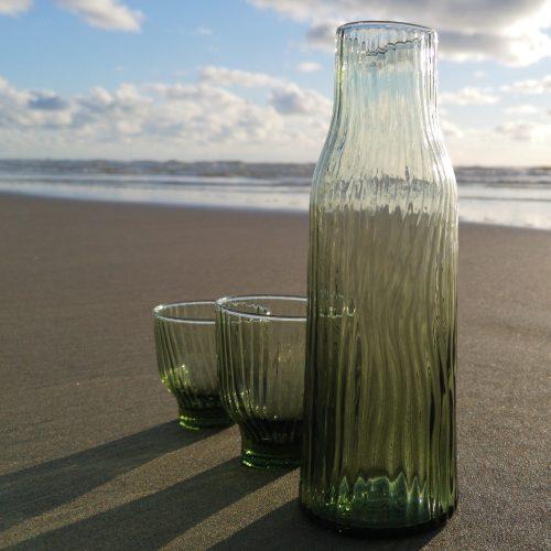 set loodvrij kristal groen